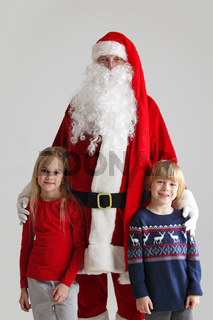 Children and Santa Claus