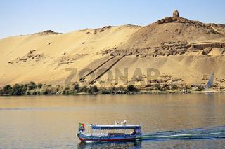 Egypt Aswan Boat Crossing The Nile