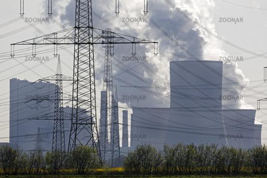 Lignite-fired power plant Neurath, Grevenbroich, Rhineland, North Rhine-Westphalia, Germany, Europe