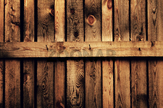 old brown wood fence