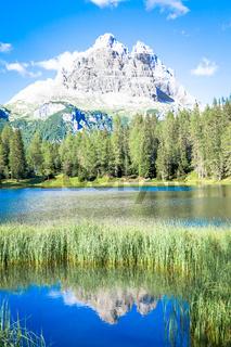 Mountain landscape of Dolomiti Region, Italy.