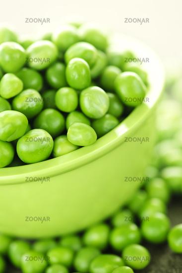 Bowl of green peas