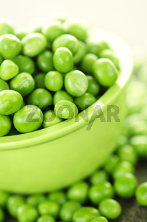 Bowl of green peas