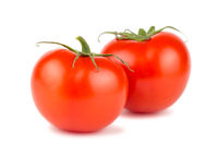 Pair of ripe red tomato