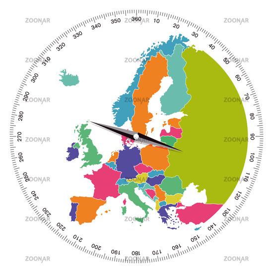 Europe, direction concept, illustration
