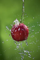 Apple with a splash