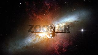 Spacecraft Progress orbiting the nebula.
