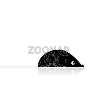Computer mouse black for your design
