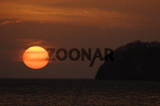 Sunset over Costa Rica