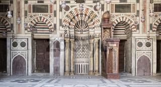 Interior Facade of Sultan Barquq Mosque, Cairo Egypt