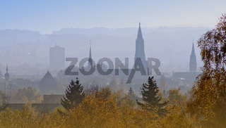 Blick von der Höhe Bismarckturm Konstanz