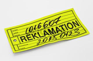 Reklamation | reclamation