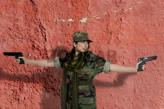 Beautiful Woman Soldier