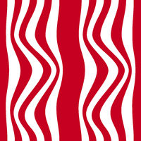 Striped abstract background. red and white zebra print. illustration