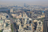 Dubai Skyline mit The Creek Fluss Luftaufnahme Luftbild