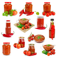 Ketchup isolated set