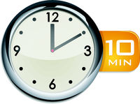 office wall clock timer 10 minutes