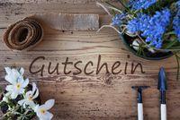 Spring Flowers, Gutschein Means Voucher