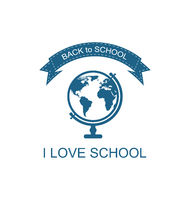 Back to School Logo with Globe