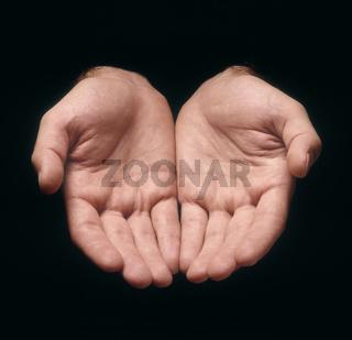 Hands offering