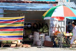 Lebensmittelladen in Grigorievka, Yssykköl, Kirgisistan