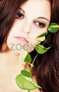 beauty photo with plant