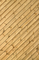 Wooden decking planks close up.