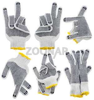 Working gloves, very strange  gestures set