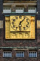 clock of the wedding tower in Darmstadt