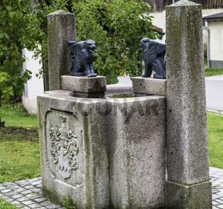 Obermurach, Brunnen unterhalb der Burgruine 'Haus Murach'