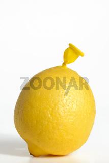 Abstract lemon from balloon