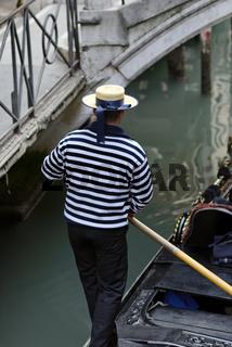 Italien Venedig Gondel Gondoliere