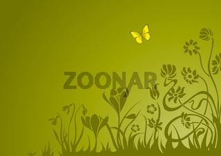 spring theme greeting card