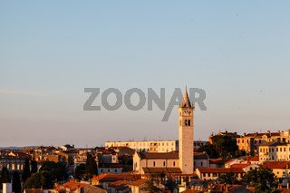 Panoramic View on the City of Pula in Istria, Croatia