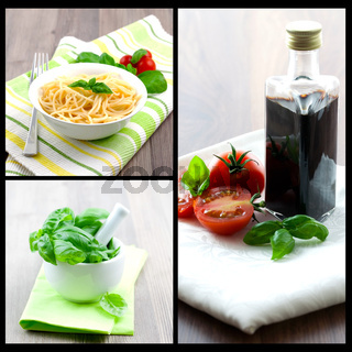 Collage italienisch Essen/collage of italian food