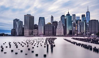 Dramatic Sky Manhattan Skyline
