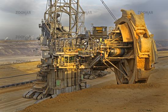 Open-cast lignite mine, Garzweiler, North Rhine-Westphalia, Germany, Europe