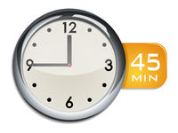 office wall clock timer 45 minutes
