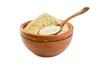 Flour and sesame seeds