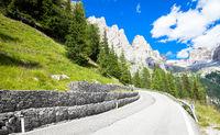 Mountain road in Dolomiti region - Italy