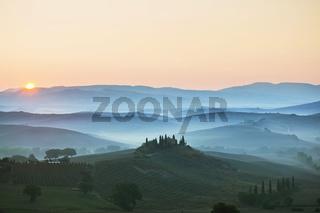 Landschaft bei San Quirico d'Orcia, Toskana, Italy