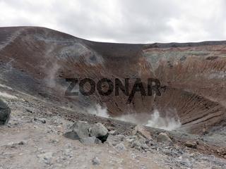 Fumarolen und Großer Krater von Vulcano, Liparische Inseln, Italien