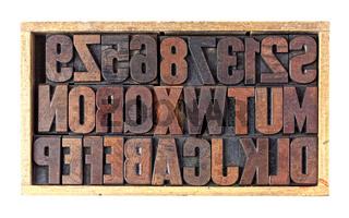 Setzkasten, Plakatschriften aus Holz