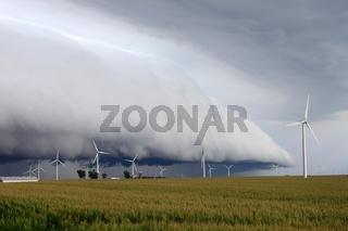 Shelf cloud - northern Illinois