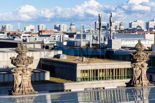view of Berlin city from Reichstag building