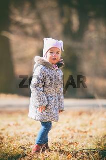 Portrait of little cute girl
