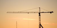 Construction crane silhouette.