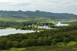 Kurile lake and the source of river Ozernaya. South Kamchatka Nature Park.