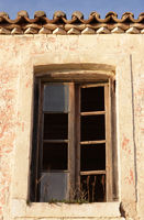 Window on an old abandoned house