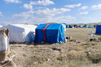 Refugee camp in, nowhere in the centre of Anatolia in Turkey